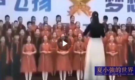 中國合唱團一小女孩暈倒,老師依然沒有停止指揮