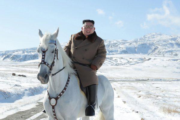 朝鮮白馬王子,金正恩元帥騎馬英姿!