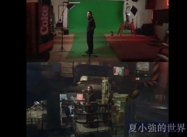 短片導演IanHubert秀出了「綠幕拍攝」和「電影呈現」的對比(視頻)