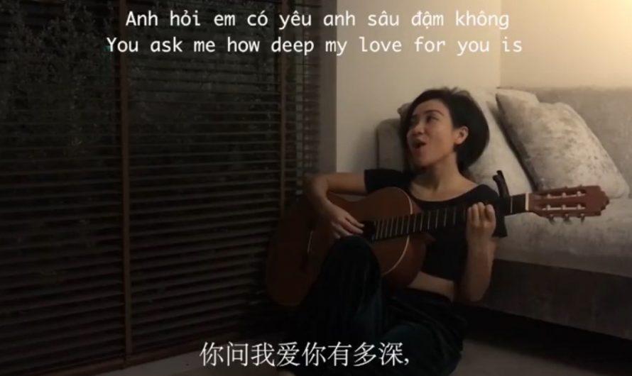 越南小姐姐用10種語言演唱《月亮代表我的心》(視頻)