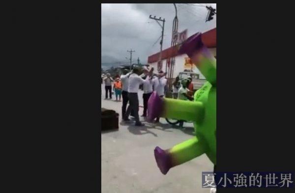 在厄瓜多爾Quinindé出門不戴口罩,可能會有「專業團隊」過來和你共舞(視頻)