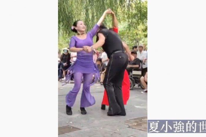 大爺大媽硬核跳舞現場(視頻)