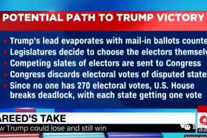 左派媒體CNN承認川普有取勝的可能