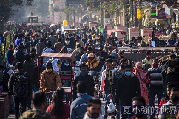 組圖:印度疫情趨緩 部分民眾不再戴口罩