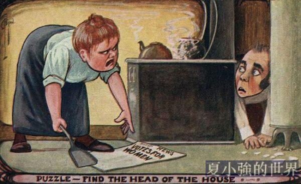 老版明信片 上世紀初如何批評女權主義者