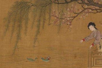 古畫裡的春天