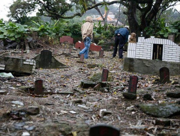 台北六張犁地區的白色恐怖受難者公墓