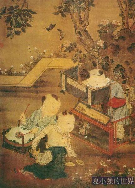 傳南宋《傀儡嬰戲圖》 劉松年