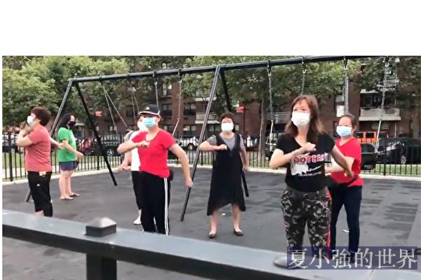 中共官媒發法拉盛紅歌舞視頻 拍攝者怒斥歪曲剽竊