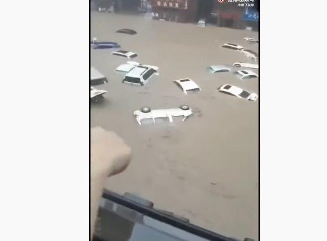 大暴雨之后鄭州城市恐怖畫面(視頻)