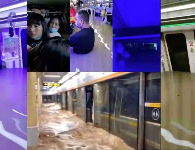 鄭州暴雨親历者:四個小時,我終於在地鐵5號線裡找到了妻子