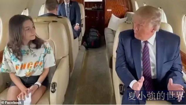 川普給11歲女孩的人生建議:不要吸毒,不抽菸,不喝酒