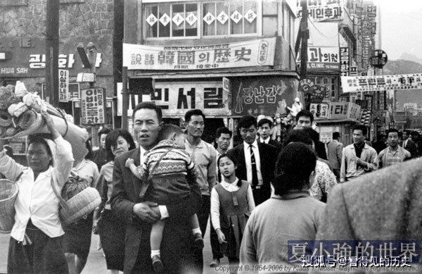 1964年韓國街景 街頭還可以看到漢字