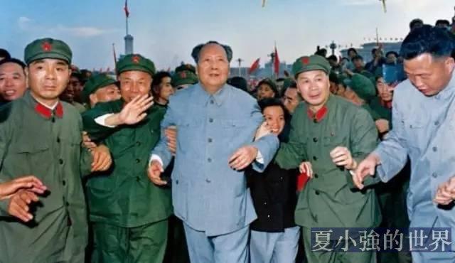 老照片:1966年毛澤東接見紅衞兵